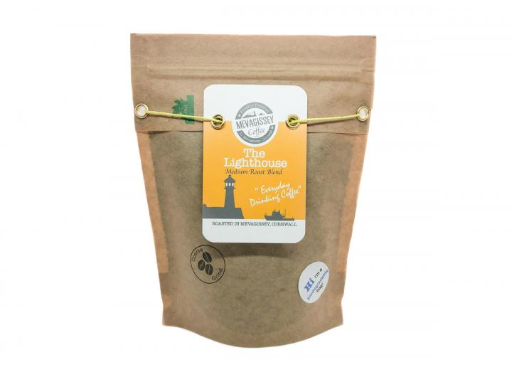 Mevagissey Coffee Lighthouse blend available in coarse ground or whole bean