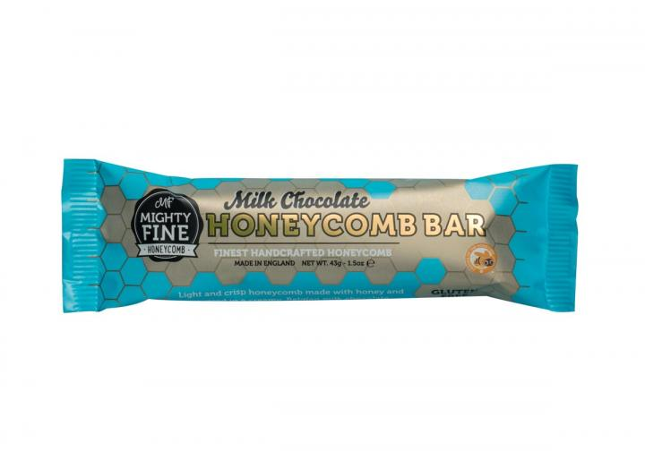 Milk chocolate coated honeycomb bar