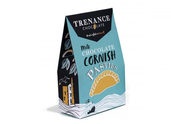 Trenance milk chocolate Cornish pasties