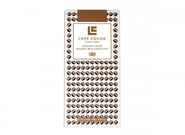 Love Cocoa milk chocolate with crushed coffee 80g