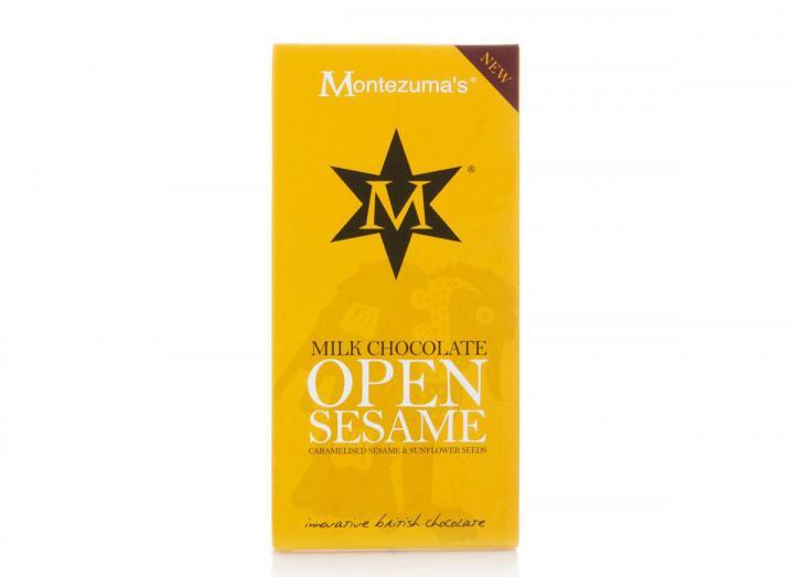 Montezuma's milk chocolate with sunflower & sesame bar