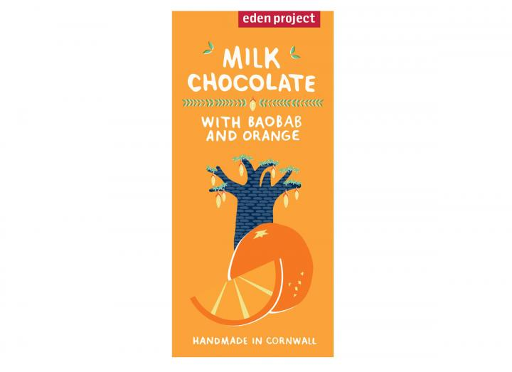 Milk chocolate with baobab & orange