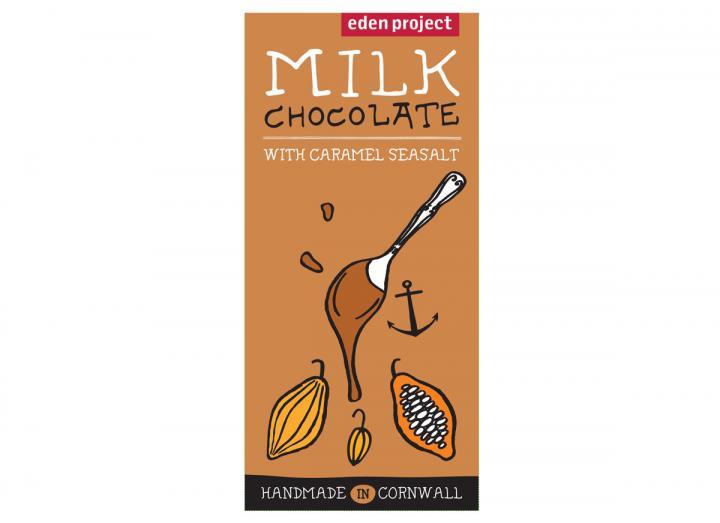 Milk chocolate with caramel seasalt