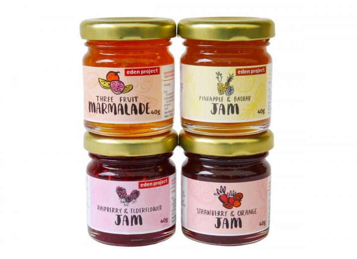 Gift set of mini jars of jam