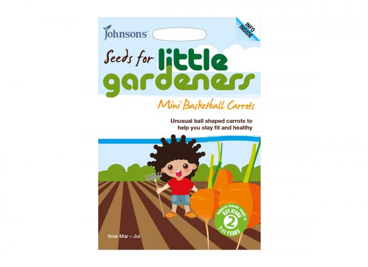 Seeds for little gardeners - mini basketball carrots