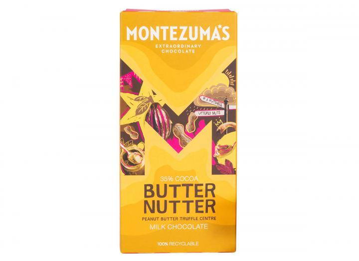 Montezuma's Butter Nutter - milk chocolate peanut butter truffle bar 90g