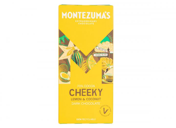 Montezuma's Cheeky - dark chocolate with lemon & coconut 90g