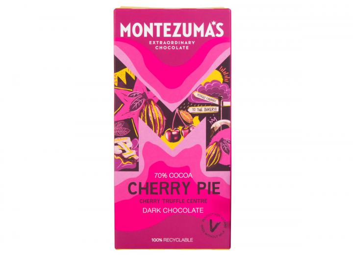 Montezuma's Cherry Pie - dark chocolate cherry truffle bar 90g