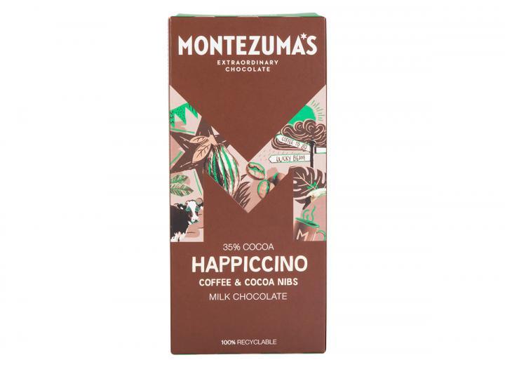 Montezuma's Happiccino - milk chocolate with coffee & cocoa nibs 90g