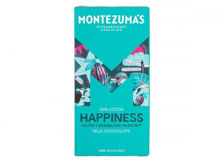 Montezuma's Happiness - milk chocolate with salted caramelised hazelnuts 90g