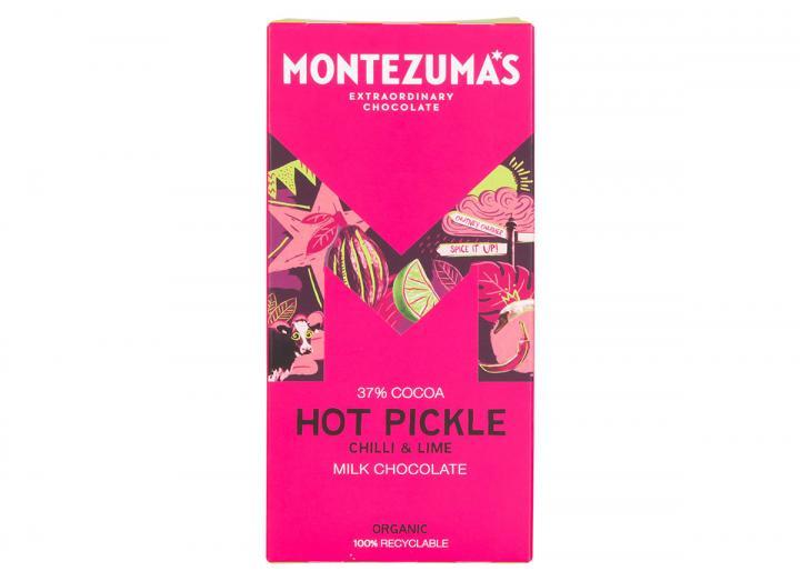 Montezuma's Hot Pickle - milk chocolate chilli & lime 90g