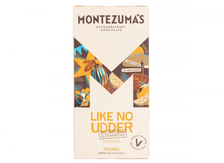 Montezuma's Like No Udder Orange - vegan friendly milk chocolate alternative