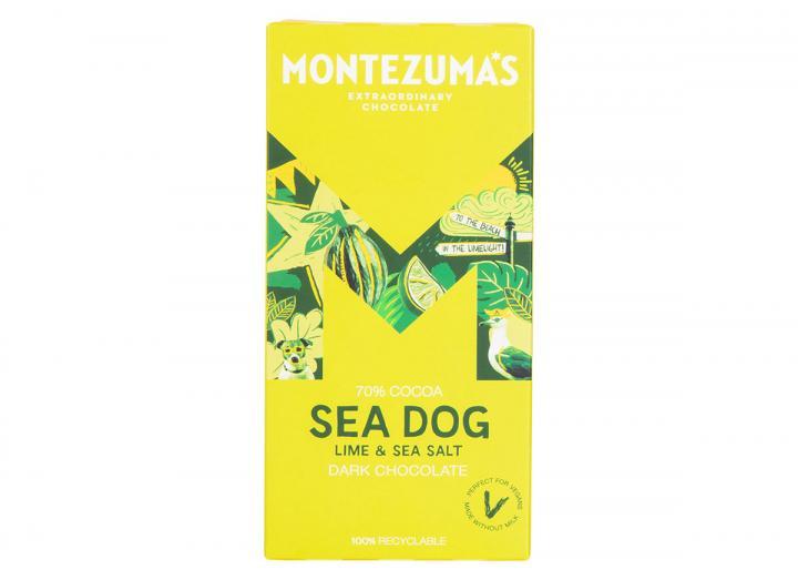 Montezuma's Sea Dog - dark chocolate with lime & sea salt 90g