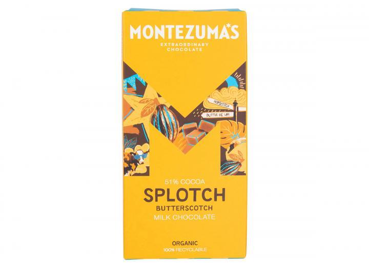 Montezuma's Splotch - milk chocolate butterscotch 90g
