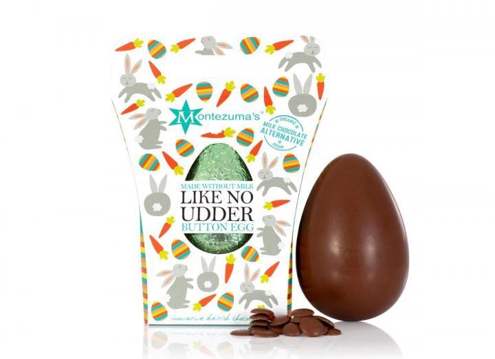 Montezuma's organic milk alternative chocolate button egg
