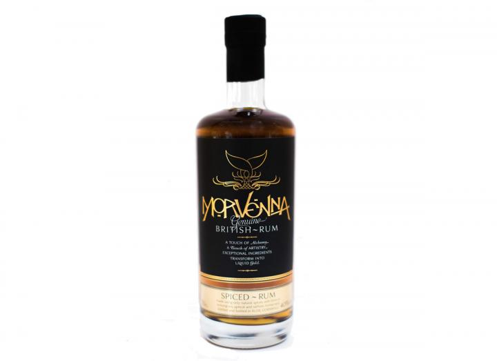 Morvenna British spiced rum distilled in Cornwall by the Cornish Distilling Co.