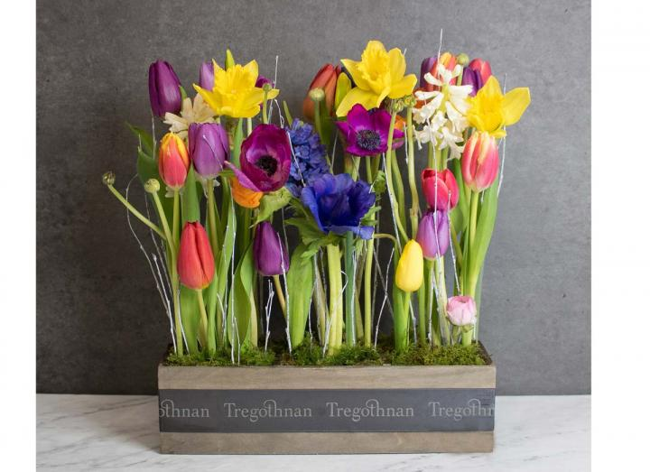 Window arrangement, hand crafted by Tregothnan especially for Mother's Day