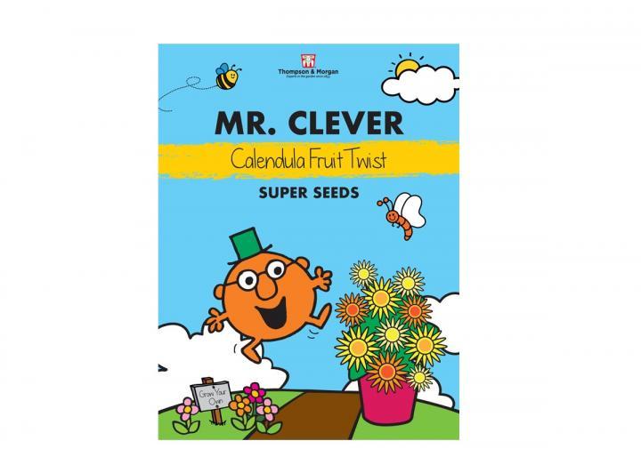 Mr Men range of seeds from Thompson & Morgan - Mr Clever calendula fruit twist seeds