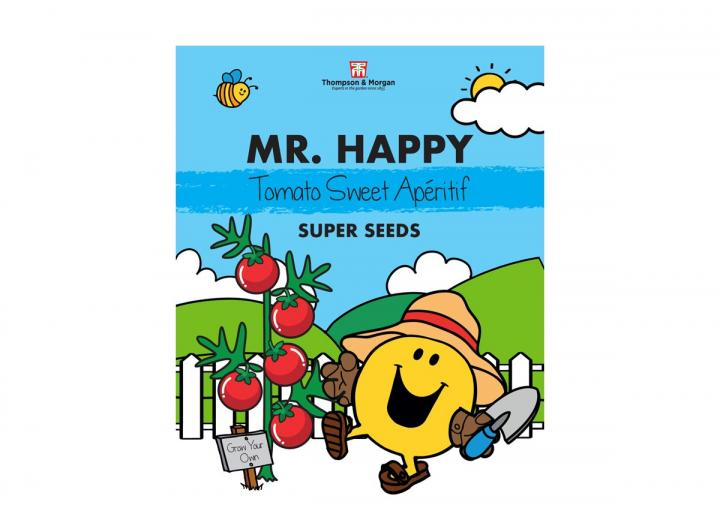 Mr Men range of seeds from Thompson & Morgan - Mr Happy tomato 'sweet aperitif' seeds