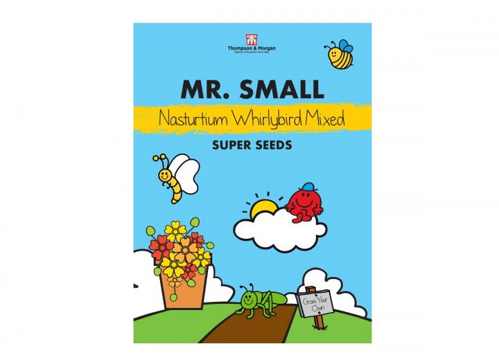 Mr Men range of seeds from Thompson & Morgan - Mr Small nasturtium whirlybird mixed seeds