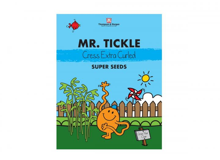 Mr Men range of seeds from Thompson & Morgan - Mr Tickle extra curly cress super seeds