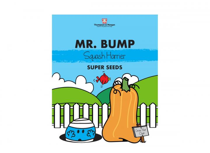 Mr Men range of seeds from Thompson & Morgan - Mr Bump squash harrier seeds