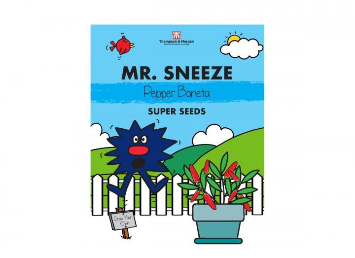 Mr Men seed range from Thompson & Morgan - Mr Sneeze pepper boneta seeds