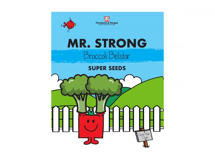 Mr Men seed range from Thompson & Morgan - Mr Strong broccoli belstar seeds