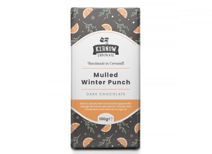 Kernow Chocolate mulled winter punch chocolate bar 100g
