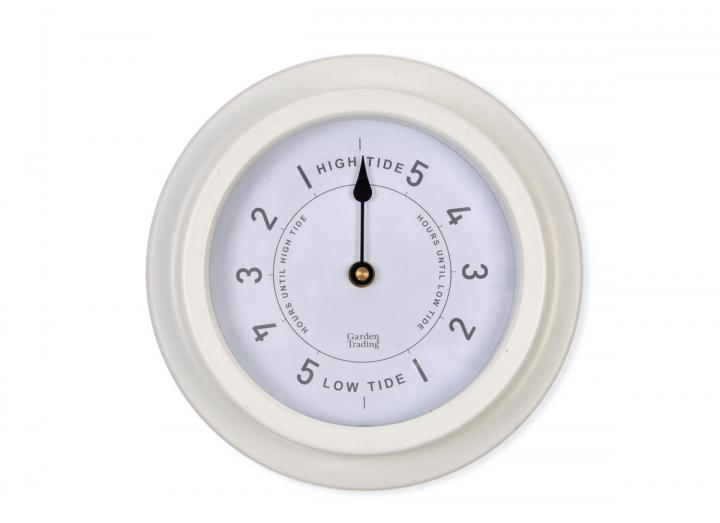 Narberth tide clock in lily white from Garden Trading