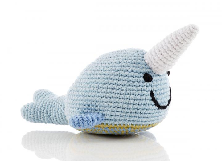 Narwhal fair trade rattle