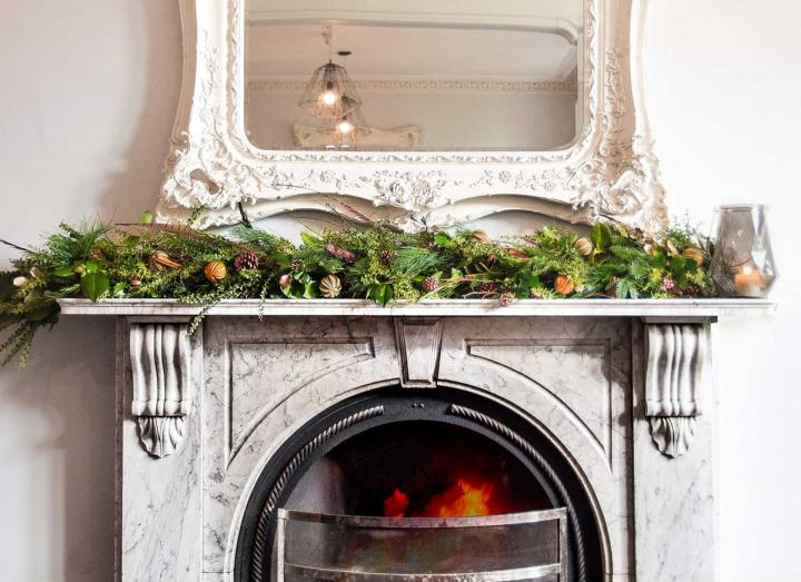 Natural Collection Garland handmade on the Tregothnan estate in Cornwall