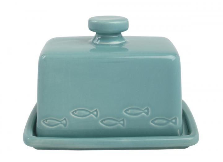 T&G Ocean Collection ceramic butter dish