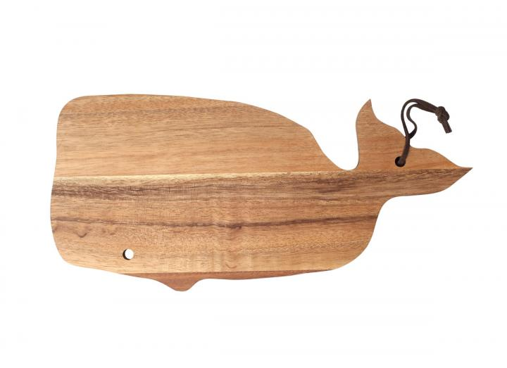 Ocean collection rustic acacia wood whale serving board