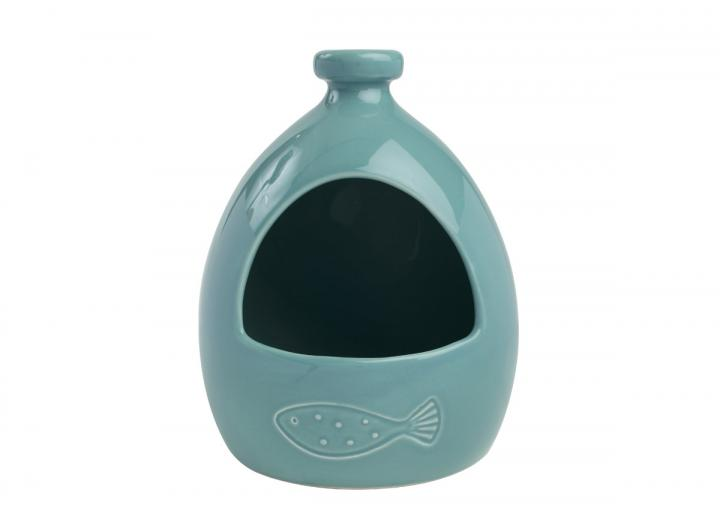 Ocean collection ceramic salt jar