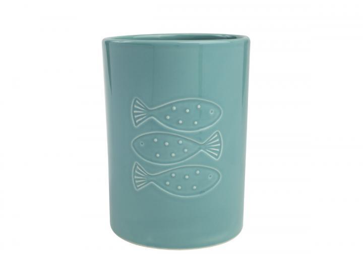 Ocean collection ceramic utensil holder