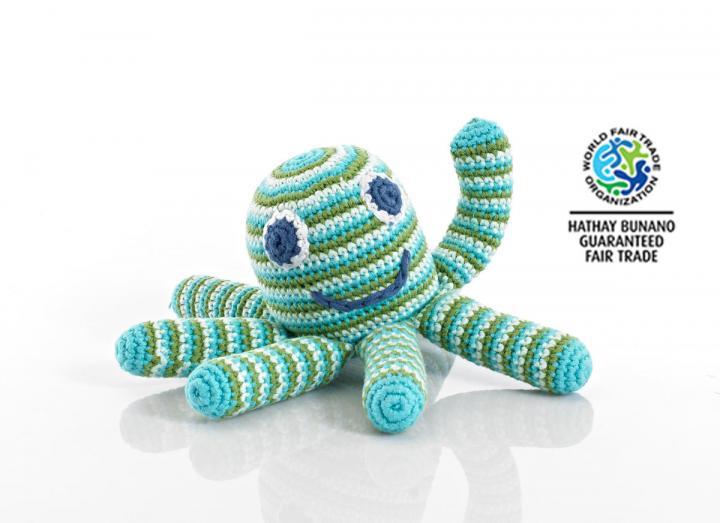 Octopus rattle fair trade
