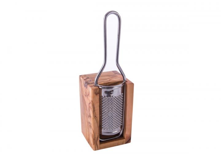 Cheese grater made from olive wood