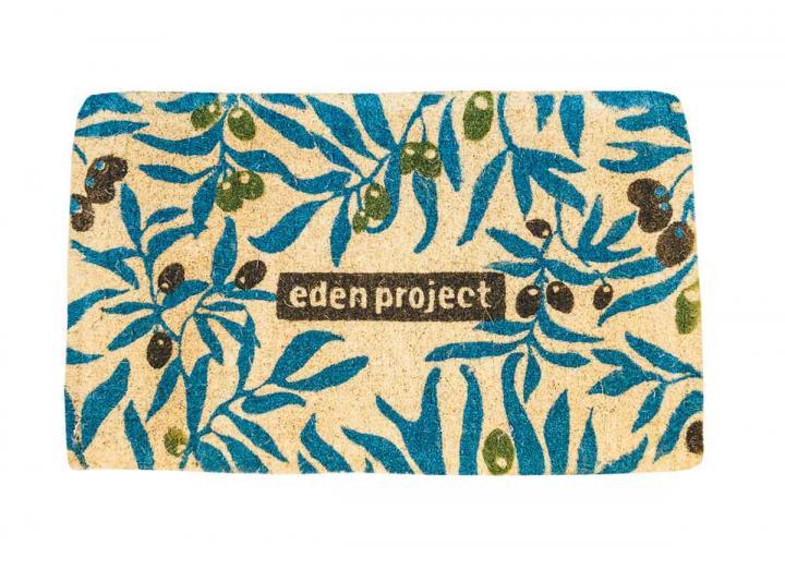 Olive print coir doormat