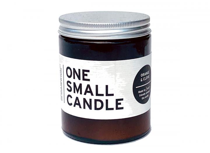 Orange & Clove scented candle from One Small Candle