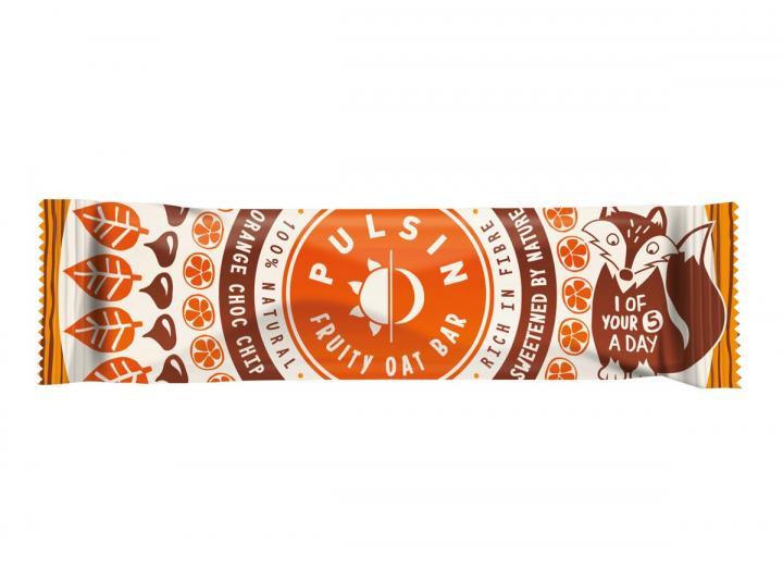 Pulsin orange choc chip fruity oat bar