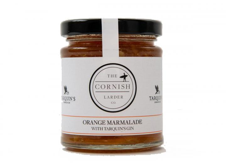 Orange marmalade with Tarquin's gin, made in Cornwall by The Cornish Larder Co.