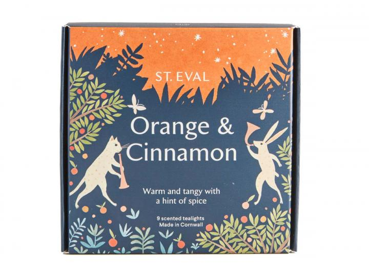 Orange & Cinnamon scented tealights from St Eval