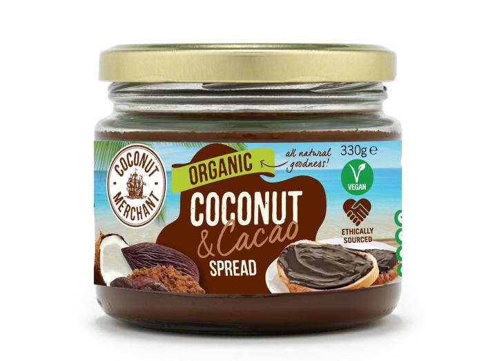 Coconut Merchant organic coconut  jam with cacao spread 330g