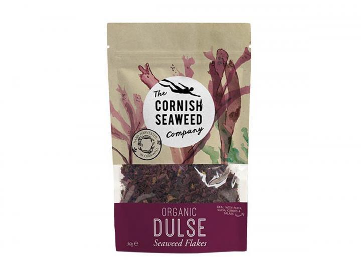 Organic dulse seaweed flakes from The Cornish Seaweed Company
