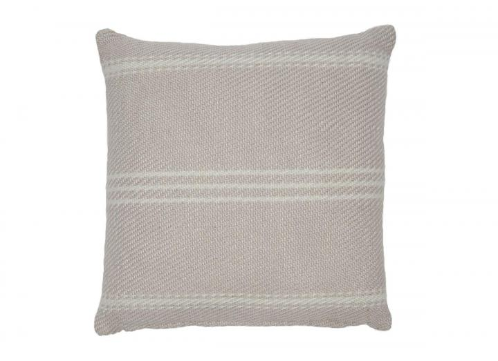 Oxford stripe cushion in shell from Weaver Green