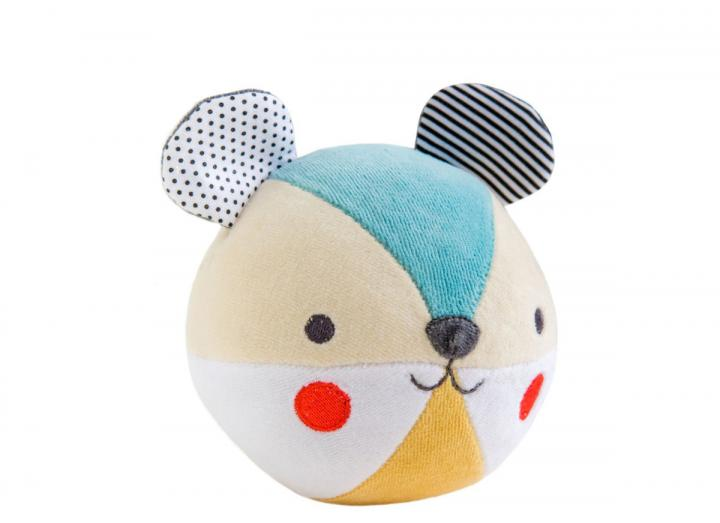 Organic cotton soft chime ball bear