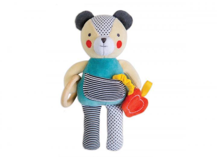 Organic cotton soft bear toy
