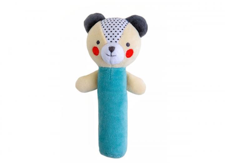 Organic cotton baby squeaker bear