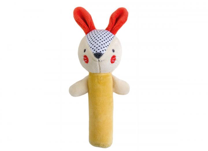 Organic cotton baby squeaker bunny